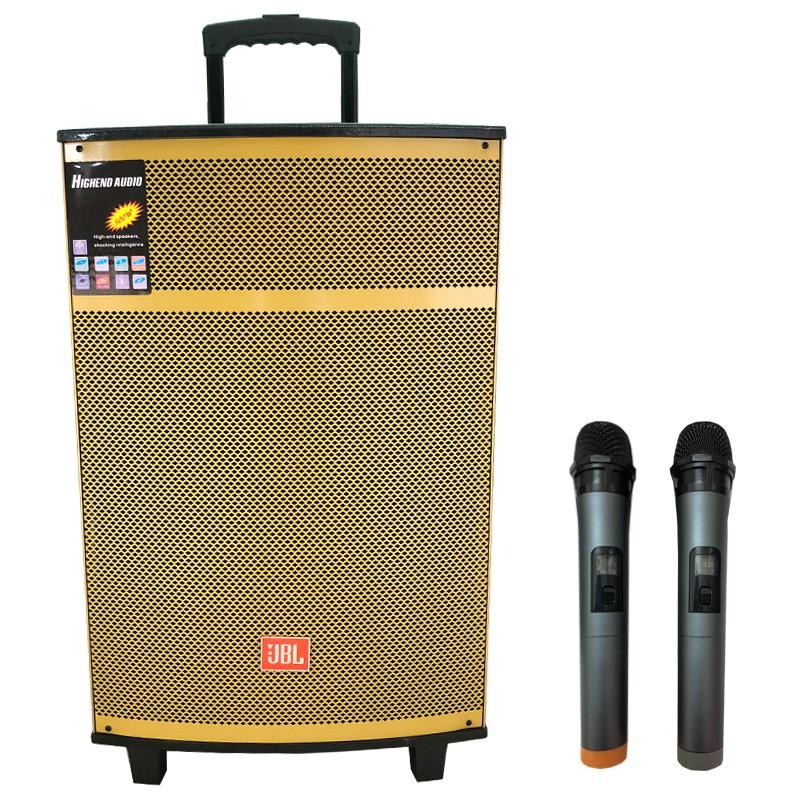 Loa Kéo JBL Bluetooth Karaoke 4 Tấc - Kèm 02 Micro Không Dây Cao Cấp - Model 2020 Bất Ngờ Giảm Giá