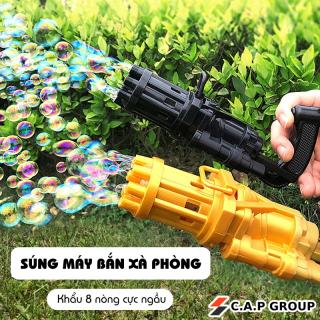 Súng máy bắn thổi Bong Bóng Xà Phòng 8 nòng đồ chơi ngoài trời cho bé an toàn không lo bẩn tay mẫu mới nhất 2021 thumbnail