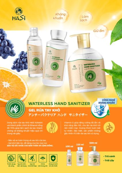 Gel rửa tay khô kháng khuẩn Hasi Kokeshi trái cây, trà xanh, lavender 100ml