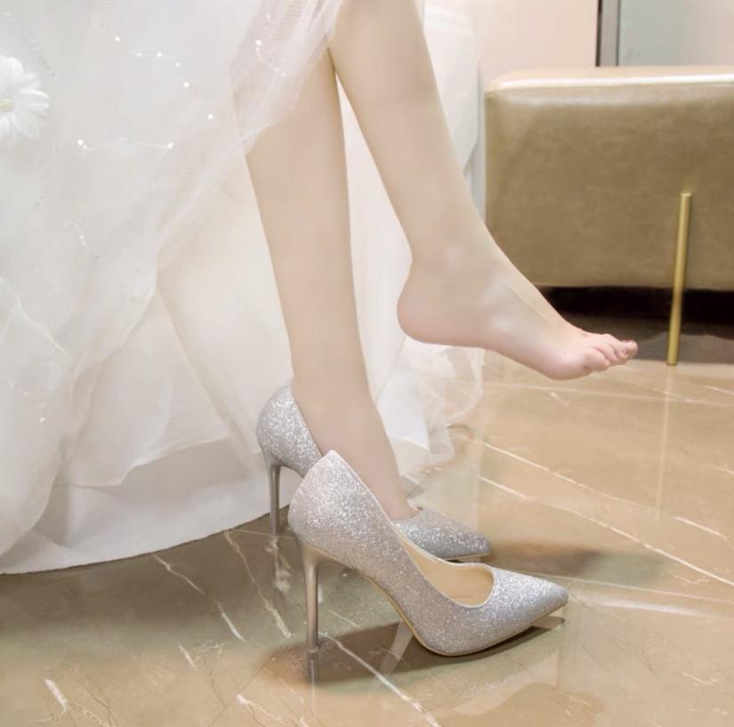 Giày cao gót đính kim sa siêu đẹp giá rẻ