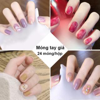 Móng tay giả có keo sẵn nail giả đẹp bộ 24 móng tay giả nhựa hot trend móng giả bộ móng tay giả IW-MT013 thumbnail