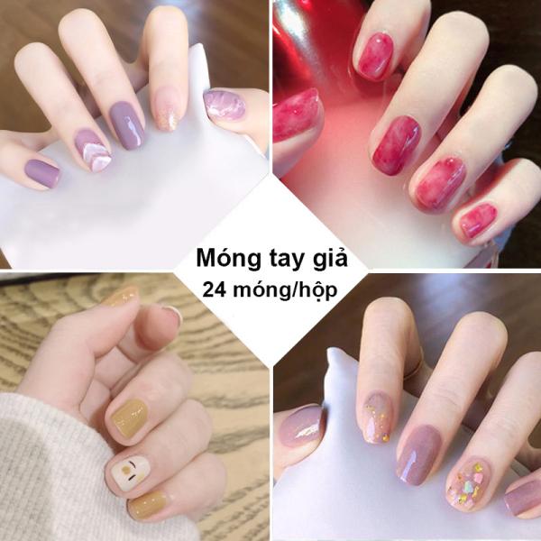 Móng tay giả có keo sẵn nail giả đẹp bộ 24 móng tay giả cao cấp hot trend móng giả bộ móng tay giả XP-MT011 cao cấp