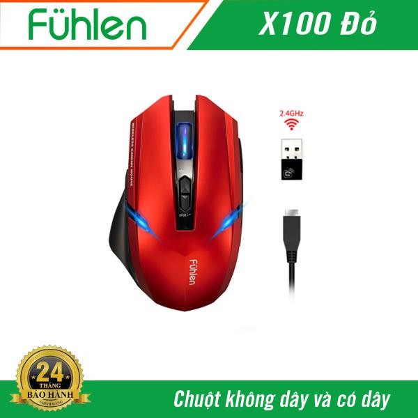 Bảng giá Chuột có dây và không dây Fuhlen X100 Phong Vũ