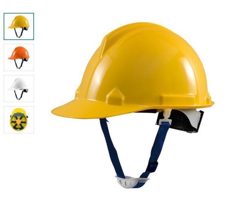 Mũ Bảo Hộ Thùy Dương Cách Điện 3kv Có Nút Vặn An Toàn- Tặng Tất Nano Khử Mùi Kháng Khuẩn Cao Cấp