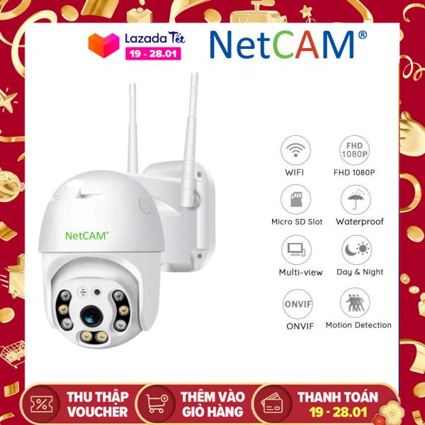 Camera IP wifi ngoài trời Speed Dome NetCAM STA2.0 Full HD 1080P - Hãng Phân Phối Chính Thức