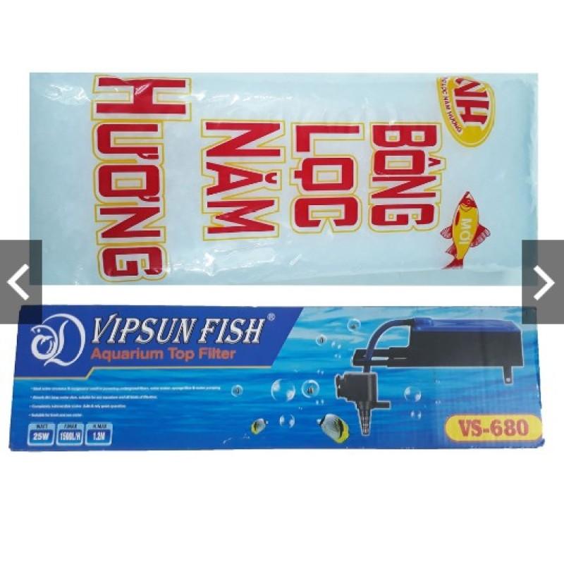 MÁY BƠM LỌC HỒ CÁ VIPSUN VS680 - BÔNG LỌC
