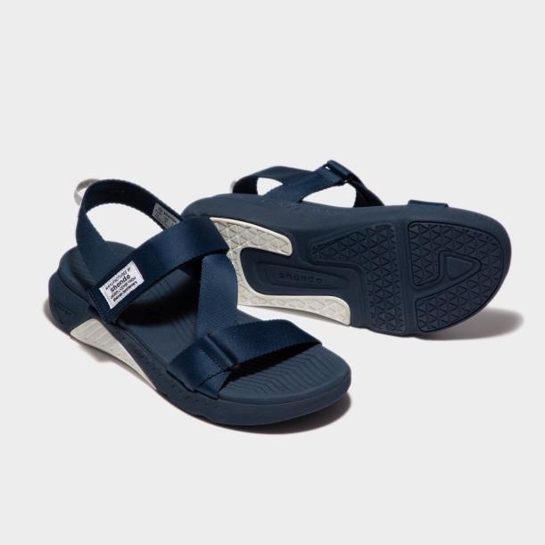 Sandals F7 Racing đế xanh phối trắng quai xanh đen F7R3535 giá rẻ