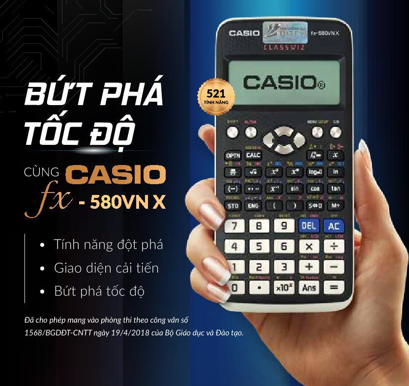 Mua Máy tính Casio FX-580VN X -hàng Thái Lan Bảo hành 2 năm