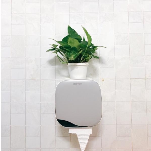 Hộp đựng giấy cao cấp Oenon dán tường, Hộp giấy vệ sinh có thêm ngăn để đồ tiện lợi