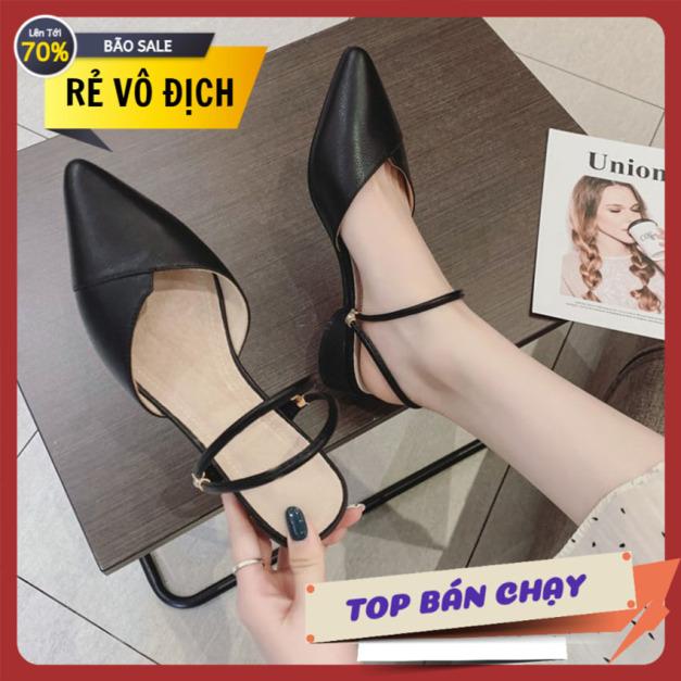 Giày xăng đan nữ mũi nhọn đeo 2 kiểu giày nữ giày búp bê giày nữ giá rẻ giày kiểu giày cao gót giày xăng đan giá rẻ