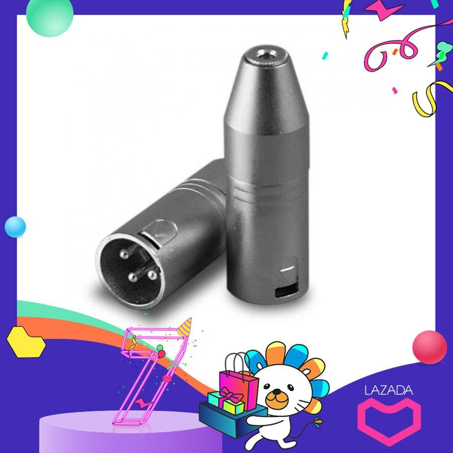 H-MENT 3.5mm Male Plug Female Jack 3 Pin XLR Microphone Cable Connector Mic Adaptor Portable e*lectronics Accessories
