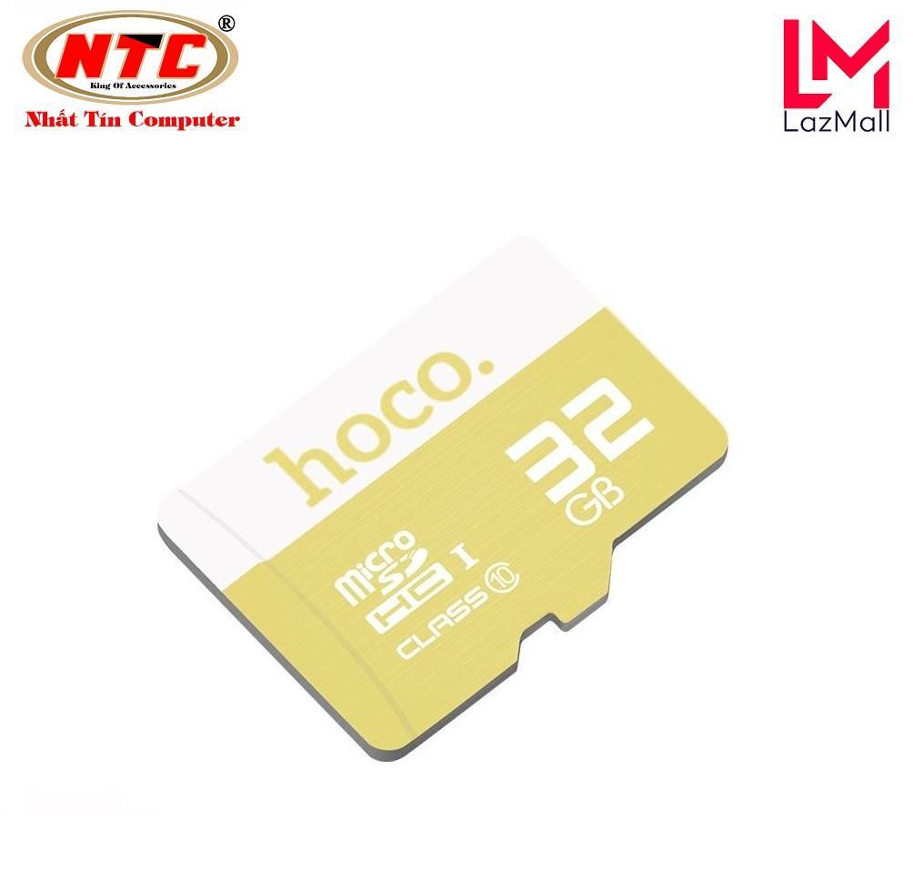 Mã Giảm Giá Thẻ Nhớ MicroSDHC Hoco 32GB Class 10 90MB/s - Bảo Hành 5 Năm (Vàng)