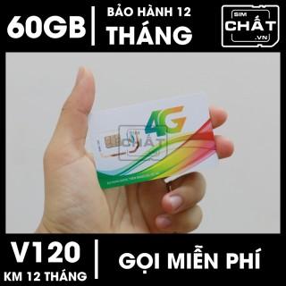 SIM 4G Viettel V120 Tặng 2GB Ngày 60GB Tháng & Miễn Phí Gọi Nội Ngoại Mạng - SIM CHẤT thumbnail