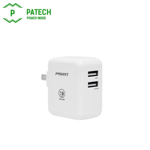 Sạc Pisen Dual USB iPad Charger (1A/2.4A )