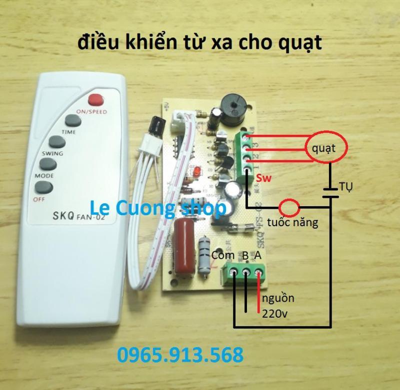 quạt,SKQ-02 FAN .Điều khiển từ xa cho các loại quạt - Chữ Tiếng Anh.Lắp cho quạt bàn, quạt treo tường, quạt cây...biến quạt thường thành quạt điều khiển từ xa, mạch quạt điều khiển từ xa