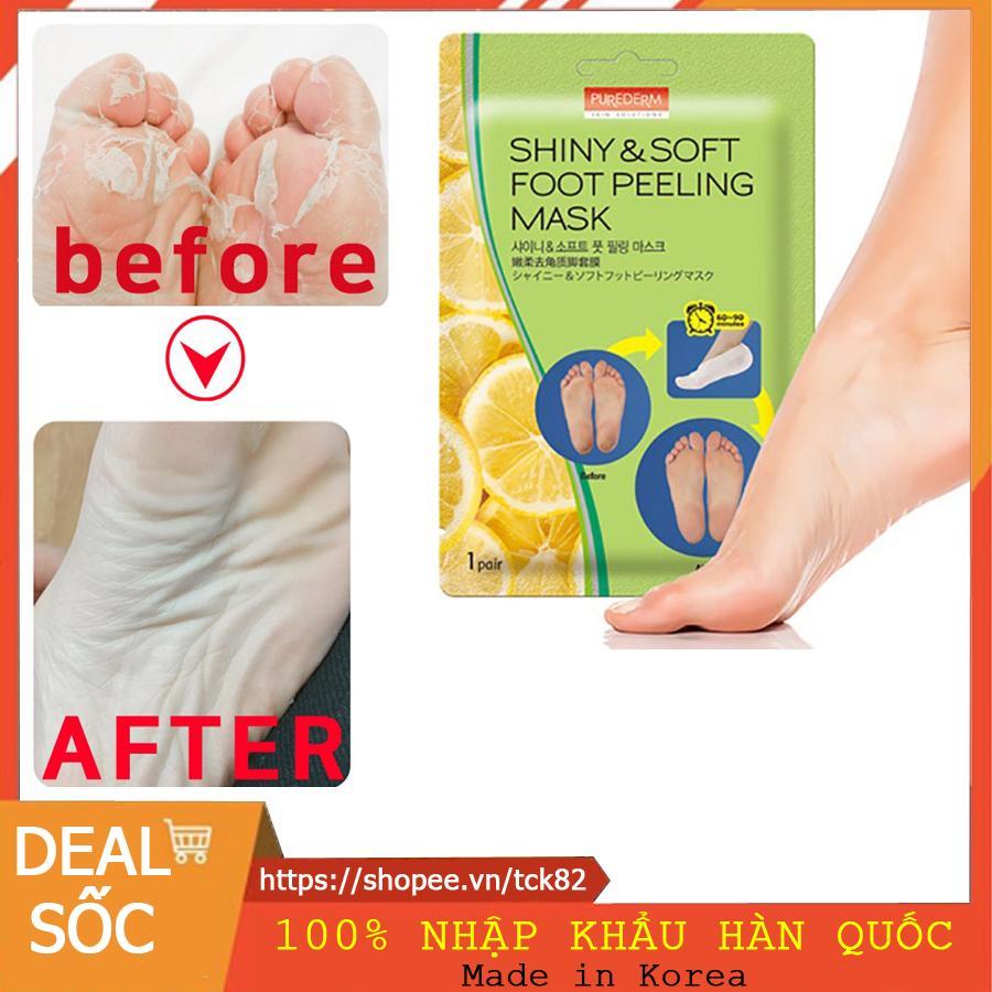 [HOT 2019] Made In Korea - Mặt Nạ Ủ Thay Da Chân Purederm Foot Peling Mask - Chiết xuất tự nhiên 100% cao cấp