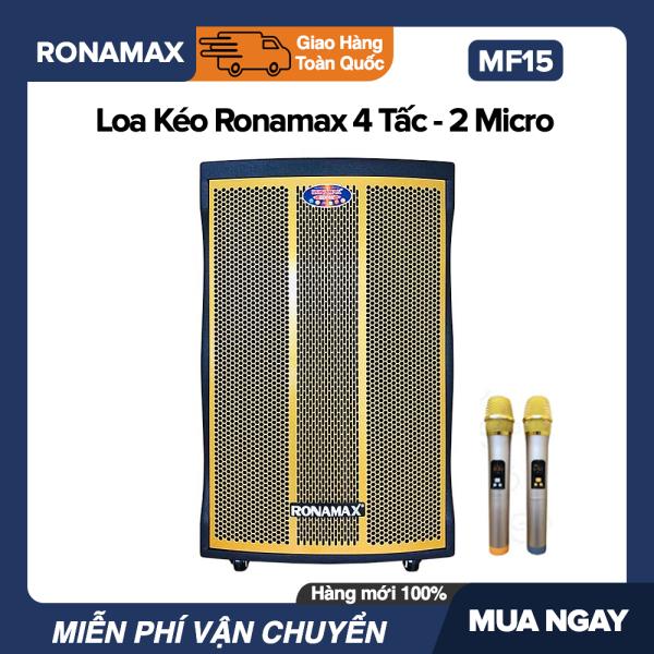 Mua Loa Kéo Karaoke Di Động Bluetooth Ronamax MT15, MF15 (600W) - 4.5 Tấc , 2 Mic Đi Kèm, Vỏ Gỗ, Lưới Vàng hoặc Đen - Bảo Hành 6 Tháng.bluetooth.karaoke.nghe nhạc.kẹo kéo.mini.bass mạnh.giá rẻ.công suất lớn.led 7 màu.gia đình.cỡ lớn