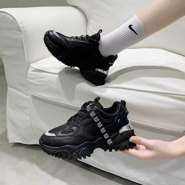 (VIDEO) giày thể thao nữ Fashion gót bạc siêu đẹp cá tính hót hít giá rẻ