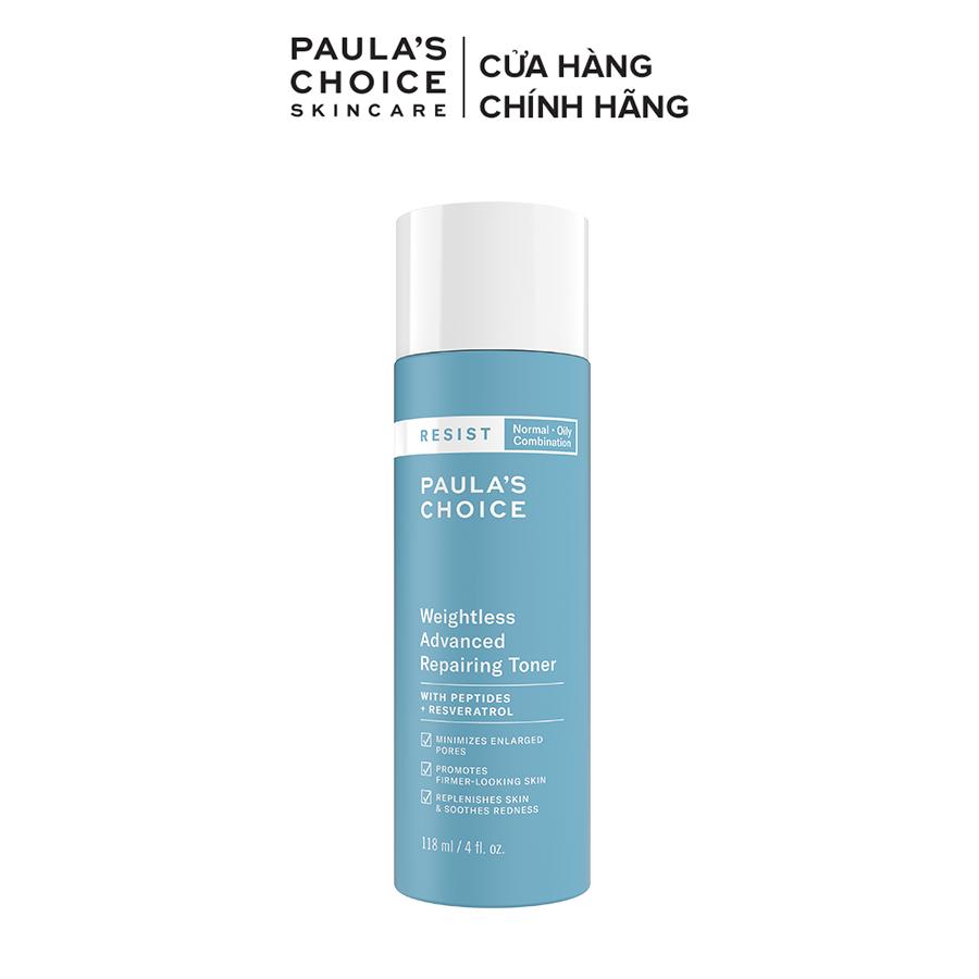 Nước hoa hồng siêu nhẹ sửa chữa hư tổn cho làn da dầu và lão hóa Paula's Choice Resist Weightless Advanced Repairing Toner