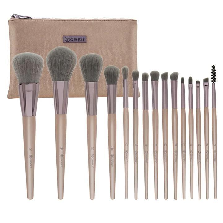 Bộ cọ trang điểm Bh Cosmetics Lavish Elegance 15 Piece Brush Set With Cosmetic Bag tốt nhất