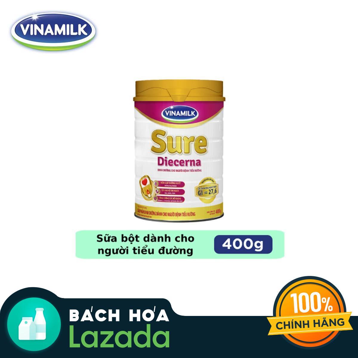 Sữa bột Vinamilk Sure Diecerna - Hộp Thiếc 400g