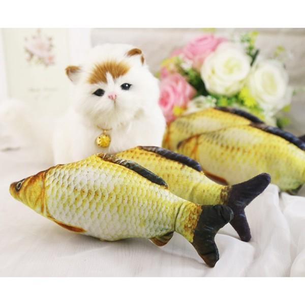 Cá nhồi bông 3d cho mèo size lớn - 30cm, chất lượng sản phẩm đảm bảo an toàn, cam kết hàng đúng như mô tả