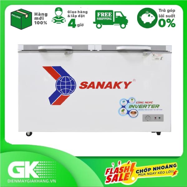 [Nhập ELMAY21 giảm 10% tối đa 200k đơn từ 99k]Tủ đông Sanaky Inverter 195 lít VH-2599W4K