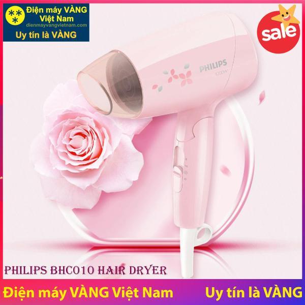 Máy sấy tóc du lịch Philips BHC010 1200W (Hồng) - Hàng chính hãng (Bảo hành 2 năm tại các Trung tâm bảo hành Philips trên toàn quốc) nhập khẩu