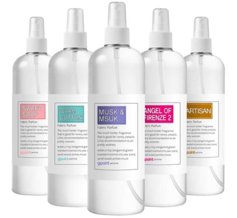 khử trùng 100% Xịt Thơm Quần Áo Nine Point Fabric Perfume Hàn Quốc 500ml
