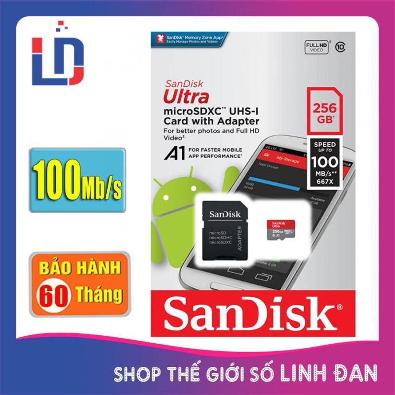 Thẻ nhớ micro SD sandisk Ultra A1 256GB 100Mb/s SDXC - New version
