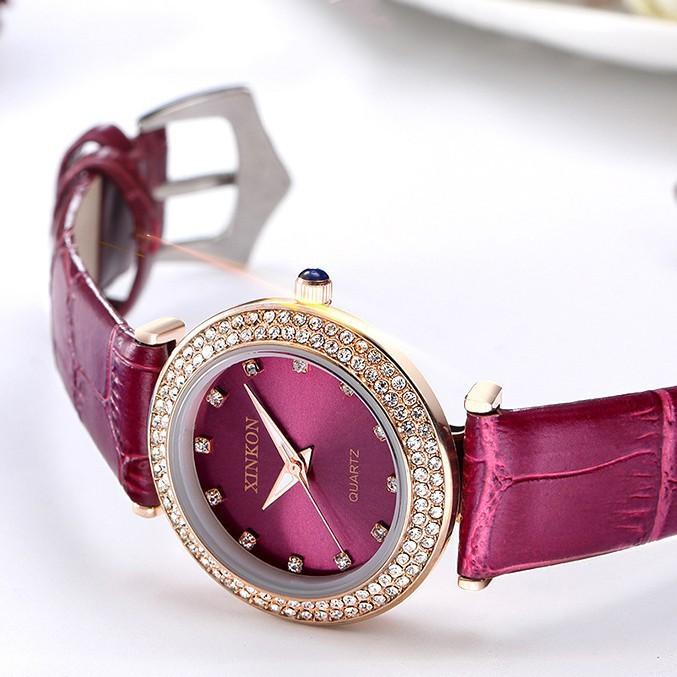 Nơi bán [SIÊU SALE] Đồng hồ Nữ XINKON MINGTUO Đính Đá Sang Trọng - Phong cách cổ điển