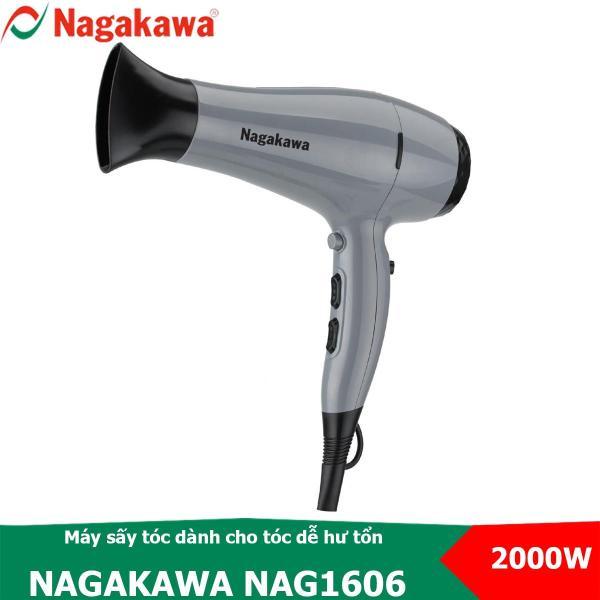 Máy sấy tóc Nagakawa NAG1606 có chế độ sấy mát, tạo ion dành cho tóc dễ hư tổn, 3 tốc độ