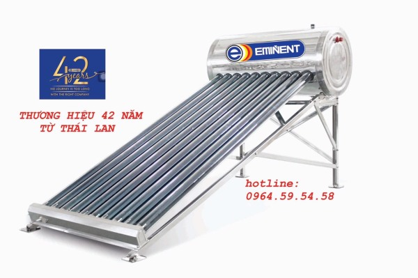 Bảng giá Máy nước nóng năng lượng mặt trời Eminent 120L nhập khẩu Thái Lan siêu bền, siêu thiết kiệm, có hỗ trợ điện Điện máy Pico