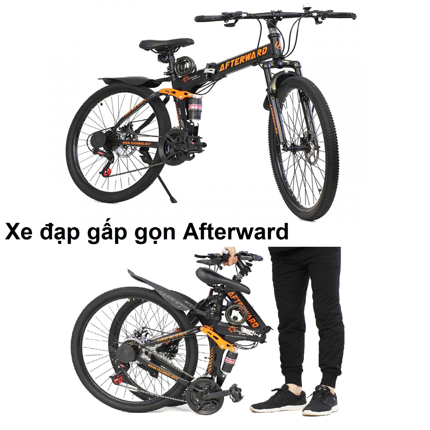 Mua Xe đạp địa hình gấp gọn Afterward + bơm và khóa chống trộm
