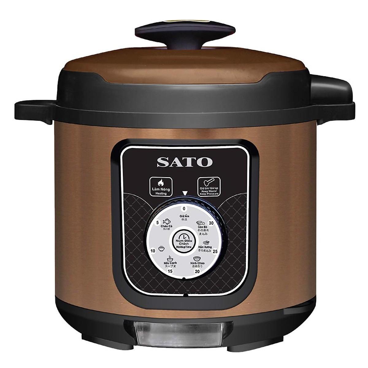 Nồi áp suất đa năng SATO ST-616PC 6.0L 1000W ( Nâu )
