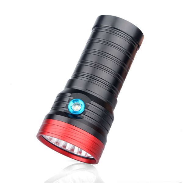 K18 Aluminum Alloy Flashlight USB Rechargeable High-Power Flashlight with 3 Gear Dimming Flashlight Suitable for Outdoor