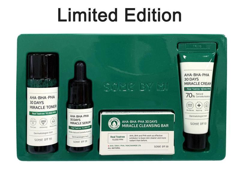 Bộ Kit 4 Món Trị Mụn Some By Mi AHA - BHA - PHA 30 Days Miracle Starter Kit [Trị sạch mụn trong 30 ngày] nhập khẩu