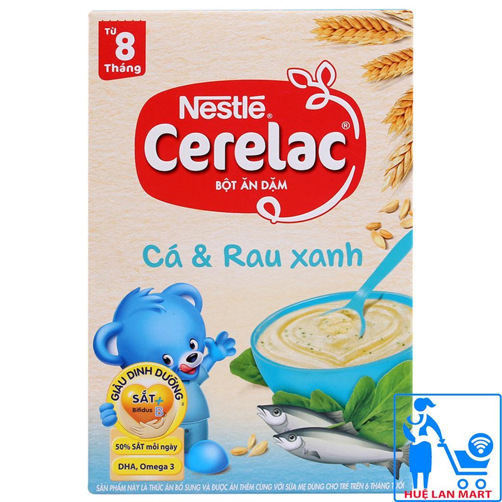 Bột Ăn Dặm Dinh Dưỡng Nestlé Cerelac Cá & Rau Xanh Hộp 200g (Dành cho trẻ từ 8 tháng tuổi)