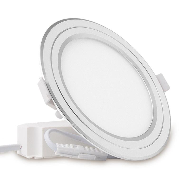 ĐÈN LED ÂM TRẦN 9W 3 MÀU RẠNG ĐÔNG VIỀN VÀNG,BẠC MODEL:PT05DM135-9W