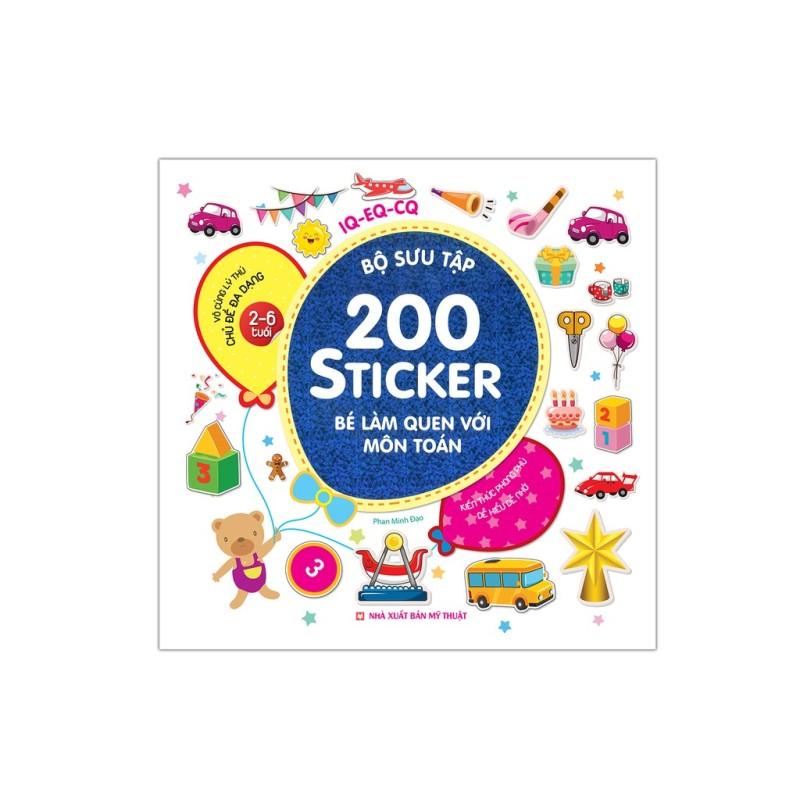 Sách - Bộ Sưu Tập 200 Sticker - Bé Làm Quen Với Môn Toán