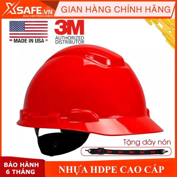 Mũ bảo hộ 3M H705R - Nón bảo hộ nhựa HDPE siêu cứng, khóa vặn, dây nón co giãn, lồng nón 4 chấu điều chỉnh được độ cao [XSAFE] [XTOOL]