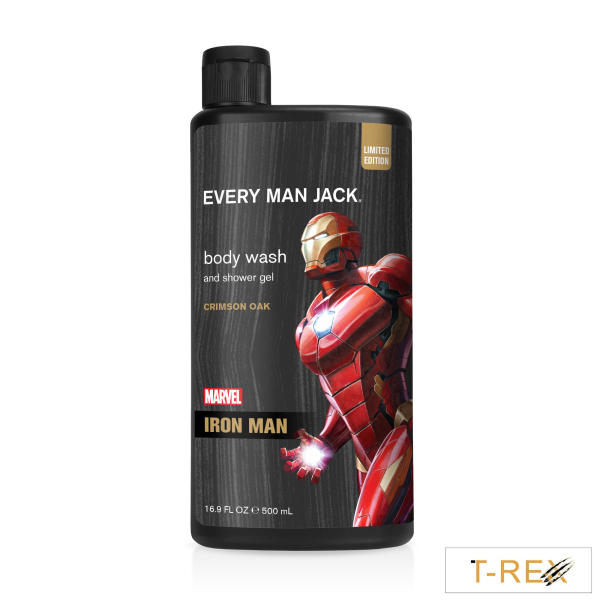 MARVEL Sữa Tắm Every Man Jack Crimson Oak Marvel Iron Man Limited Edition 500ML nhập khẩu