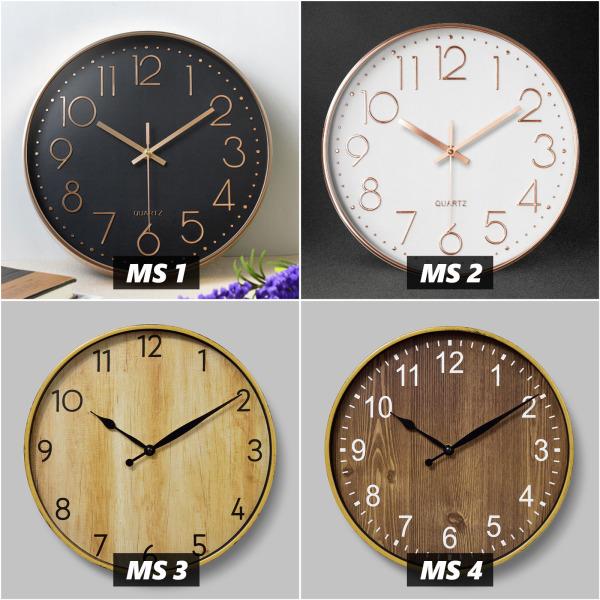 Đồng hồ treo tường Quartz kim trôi 30cm (Chọn 16 màu) BH 12 tháng, Freeship, Tặng Pin bán chạy