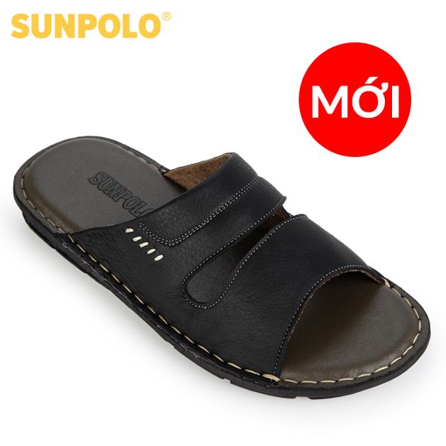 Dép Nam Quai Ngang Da Bò SUNPOLO AQN027 giá rẻ