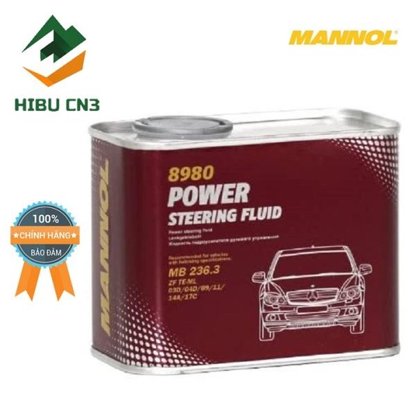 Dầu Trợ Lực Tay Lái MANNOL Power Steering Fluid 8980 500ml – HIBU CN3