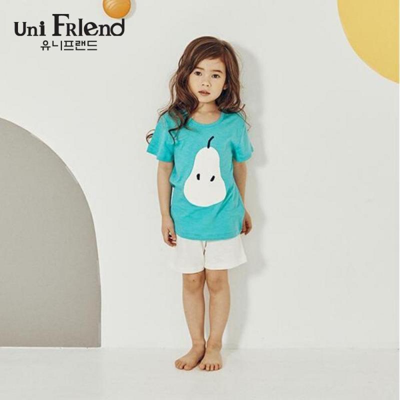 Nơi bán Đồ bộ mặc nhà bé gái Unifriend thun ngắn họa tiết quả lê U9SSTS03