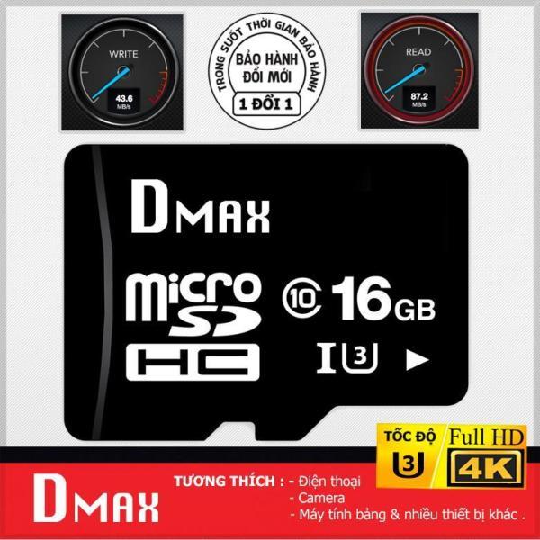 Bộ 10 Thẻ nhớ 16GB tốc độ cao U3 , up to 90MB/s Dmax Micro SDHC class 10 - Bảo hành 5 năm