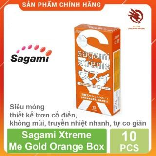 [HCM][ XẢ HÀNG ] - bao cao su Sagami Xtream Love Me Gold Red siêu mỏng ôm sát cao cấp - hộp 10 cái thumbnail
