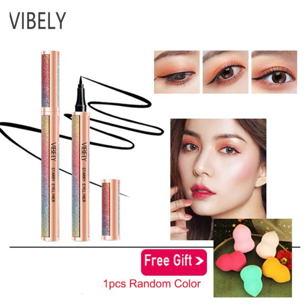 VIBELY Eyeliner, không trôi,,không lem,Kẻ Mắt Không Thấm Nước Trang Điểm Lâu Trôi Kẻ Mắt Dạng Lỏng Mỹ Phẩm Bút Chì