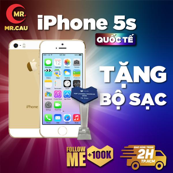 Điện thoại giá rẻ iPhone 5s - 16GB - quốc tế youtube, tiktok, facbook  Game online mượt, nghe gọi to vân tay nhạy